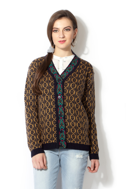 Pantaloons Brown Cardigan