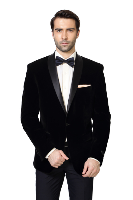 Louis Philippe Black Blazer