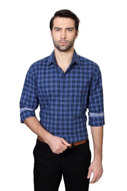 Louis Philippe Navy Shirt