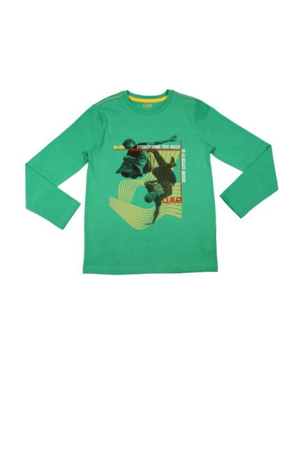 Pantaloons Green Activewear T shirt