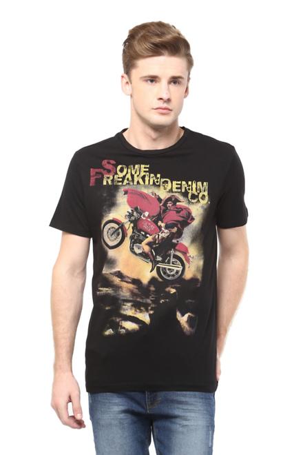 Pantaloons Black T Shirt