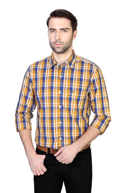 Peter England Yellow Shirt