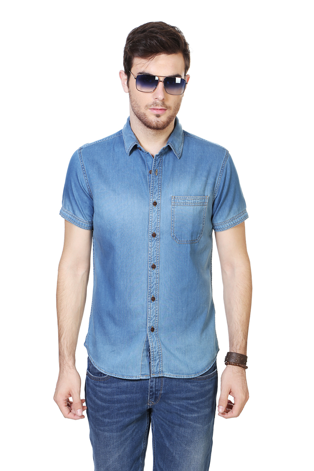 People Blue Shirt