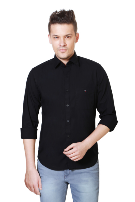 Louis philippe lysf1s00530 Black Shirt - Best Price in India ...