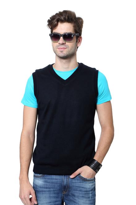 JM Sport Pantaloons Blue Reversible Sweater