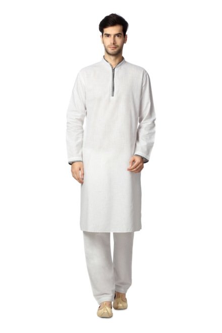 Peter England White Kurta And Pyjama