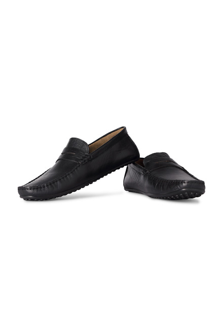Louis Philippe Textured Formal Slip Ons