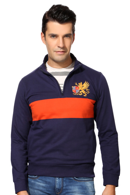 Peter England Navy Sweatshirt