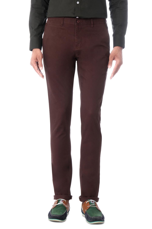 van heusen sport pants wine coloured flat front pants for men at
