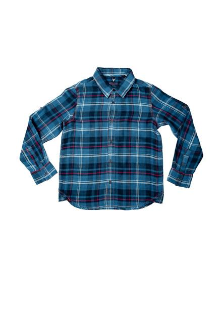 Allen Solly Blue Plaid Shirt