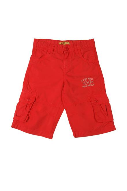Allen Solly Red Shorts