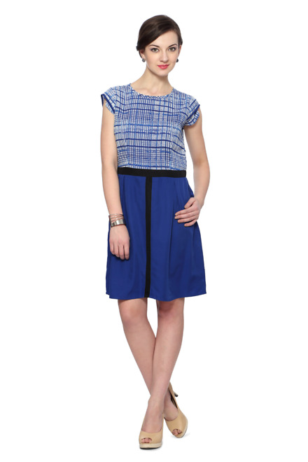 Pantaloons Blue Dress