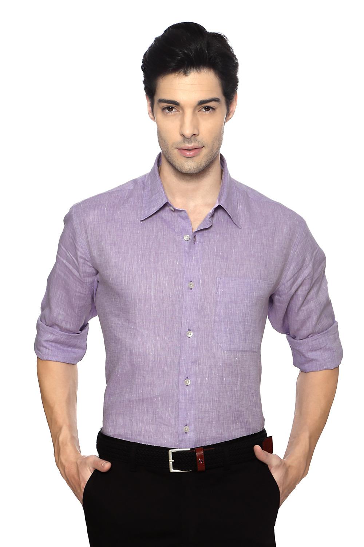 Purple Formal Linen ShirtLouis Philippe Formal Shirts