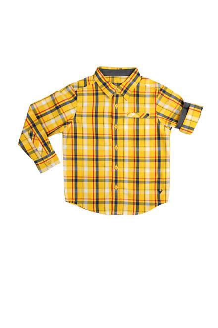 Allen Solly Yellow Check Shirt