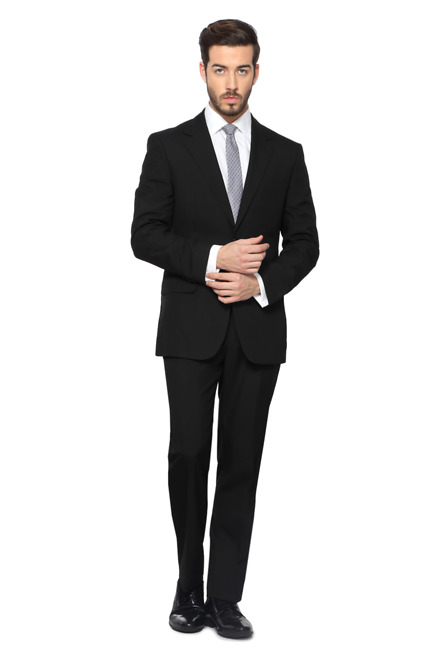 Peter England Peter England Black Two Piece Suit