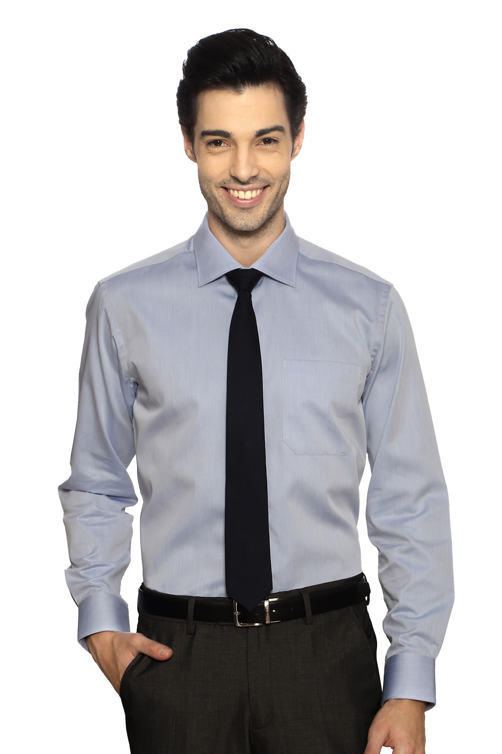 Louis Philippe Shirts  Grey Formal Shirt for men at Trendin com 2 599    Louis Philippe Formal Shirts