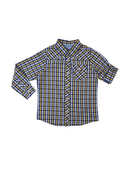 Allen Solly Blue Check Shirt