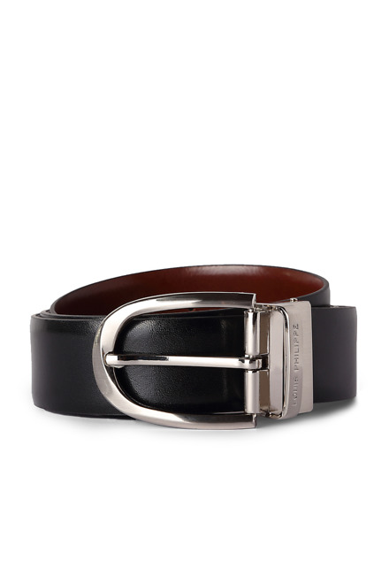 Black Formal Belts - Louis Philippe