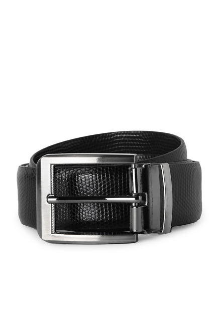 Black Formal Belts - Peter England