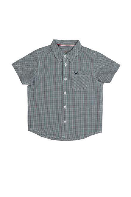 Allen Solly Grey Checked Shirt