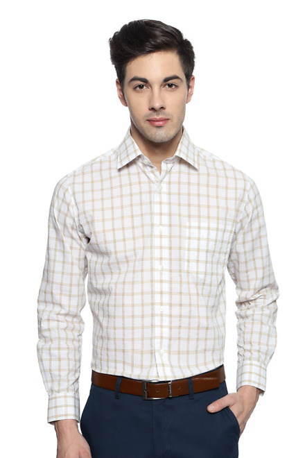 White Formal Slim Fit Shirt - Peter England Casuals