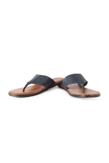 Louis Philippe Navy Sandals
