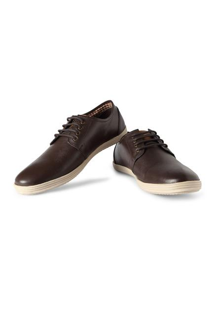 Brown Casual Lace Up Shoes - Solly Sport