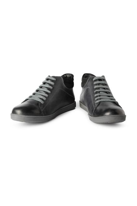 Black Casual Lace Up Shoes - Solly Sport
