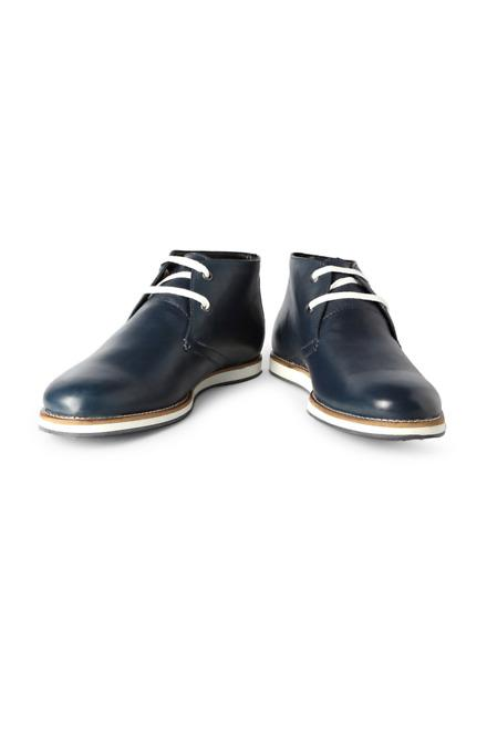 Blue Business Casual Lace Up Shoes - Solly Sport