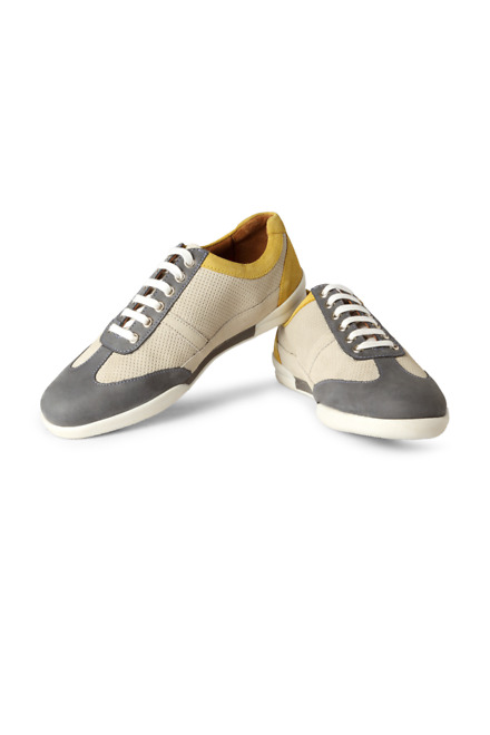 Grey Casual Lace Up Shoes - LP