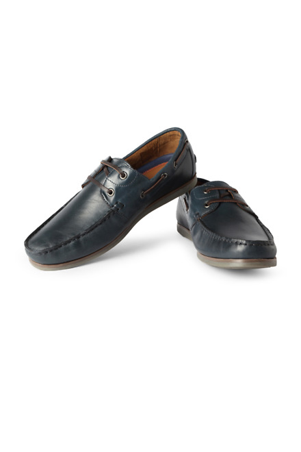 Navy Casual Lace Up Shoes - LP
