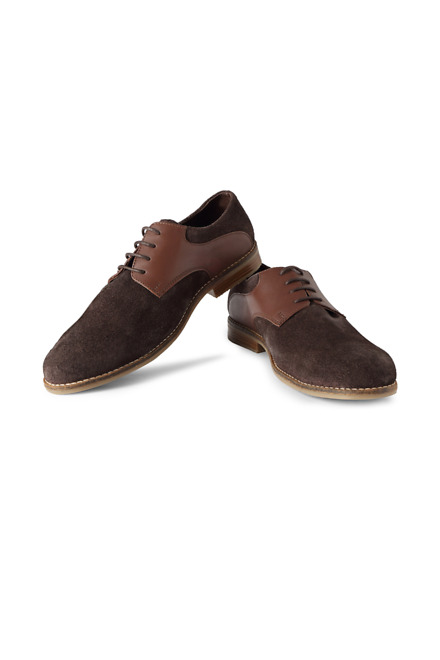 Brown Casual Lace Up Shoes - V Dot