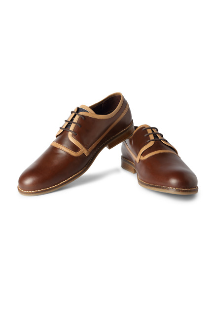 Brown Business Casual Lace Up Shoes - Van Heusen