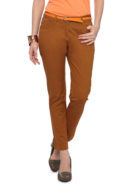 Pantaloons Brown Trousers