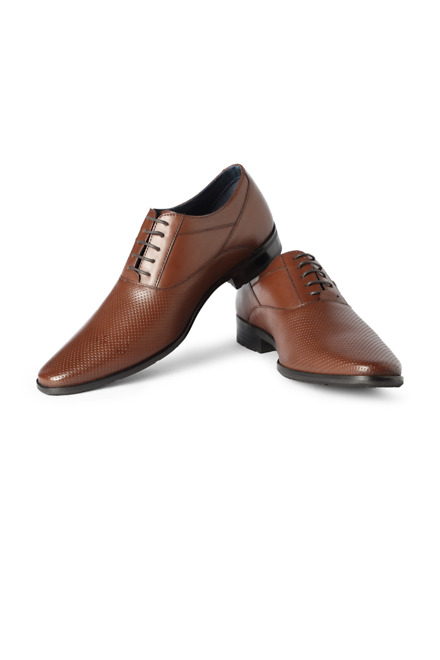 Brown Business Casual Lace Up Shoes - Louis Philippe
