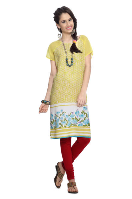 People Yellow Kurta