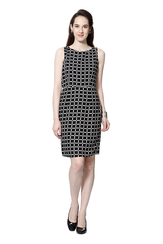 Model Van Heusen Woman Dresses Van Heusen Black Dress For Women At Trendin