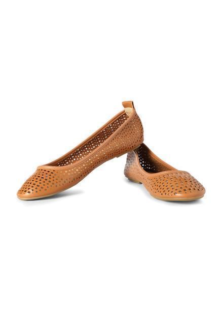 Allen Solly Brown Ballerinas