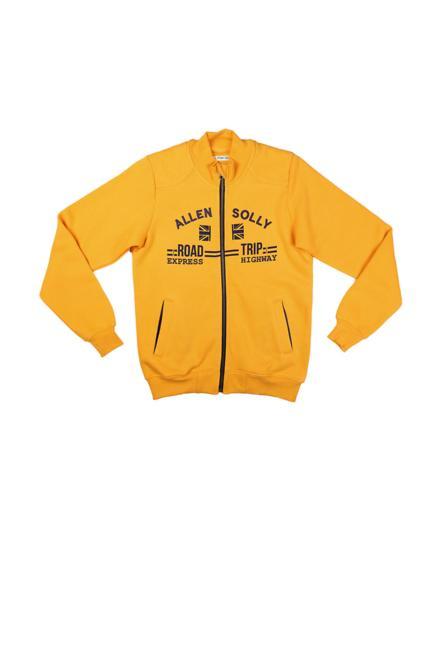 Allen Solly Yellow Sweatshirt