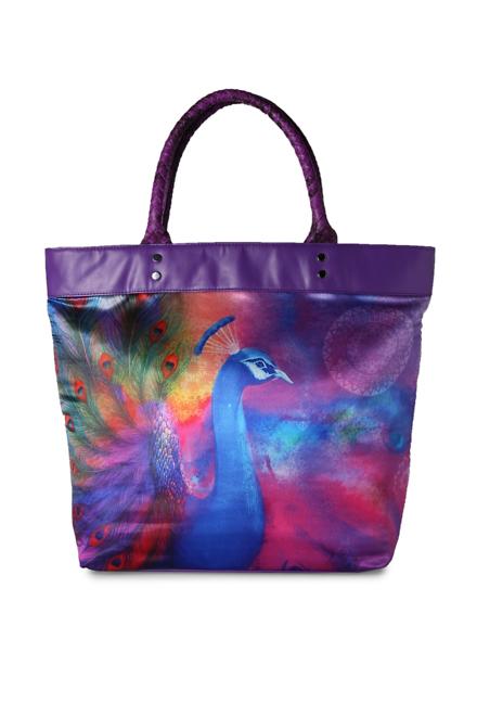 Akkriti Pantaloons Purple Tote Bag
